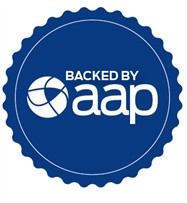 Backed by AAP stamp