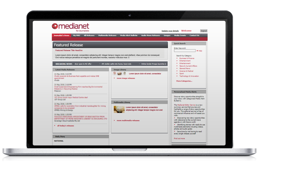 For Journalists - Medianet For Journalists1