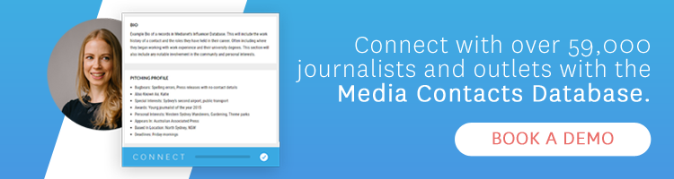 Media Contacts Database - Book a Demo