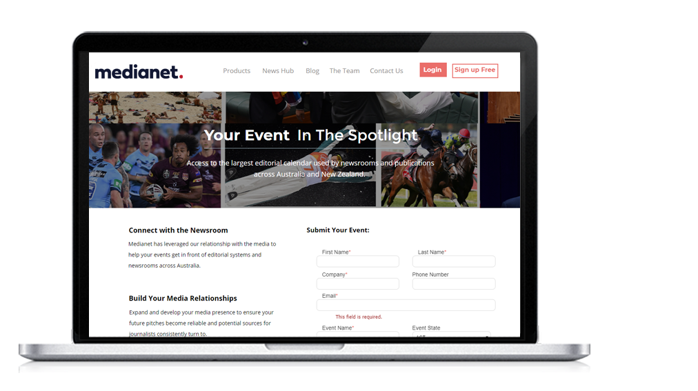 Your Event in the spotlight