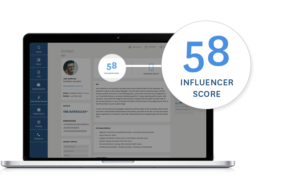 Media Database - Influencer Score