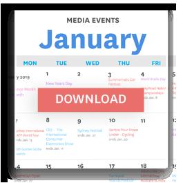 Media Events Calendar 2019