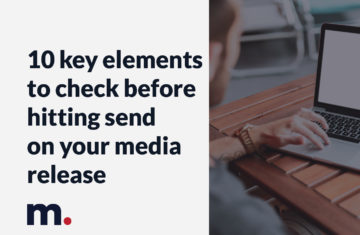 10 key elements to check before hitting send on your press release